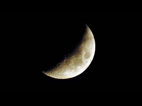 Moon Set, Souda Bay, 31st Jan 2018