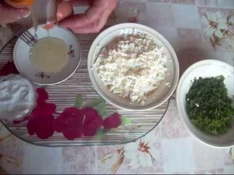 Рецепт Вкусная соленая творожная  начинка для пирожков..Delicious salted of curd  the filling  for patties