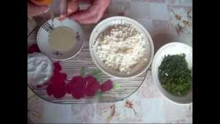 Вкусная соленая творожная  начинка для пирожков..Delicious salted of curd  the filling  for patties