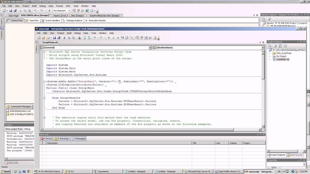 SSIS XML Configuration - YouTube