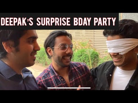 DEEPAK'S SURPRISE BIRTHDAY PARTY   Deepak Hua Emotional   SINGAPORE Se Aya Dost   DSP VLOGS