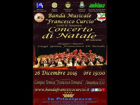 """Concerto di Natale 2016 - Banda """"F. Curcio"""""""