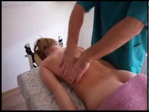Общий массаж спины. Лечение остеохондроза