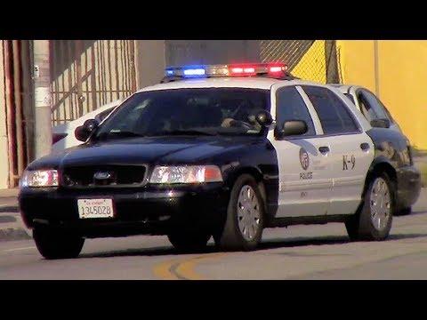 LAPD K9 Unit & LAFD Light Force 66 Responding