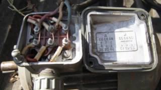 видео Трехфазный двигатель в однофазной сети без конденсаторов
