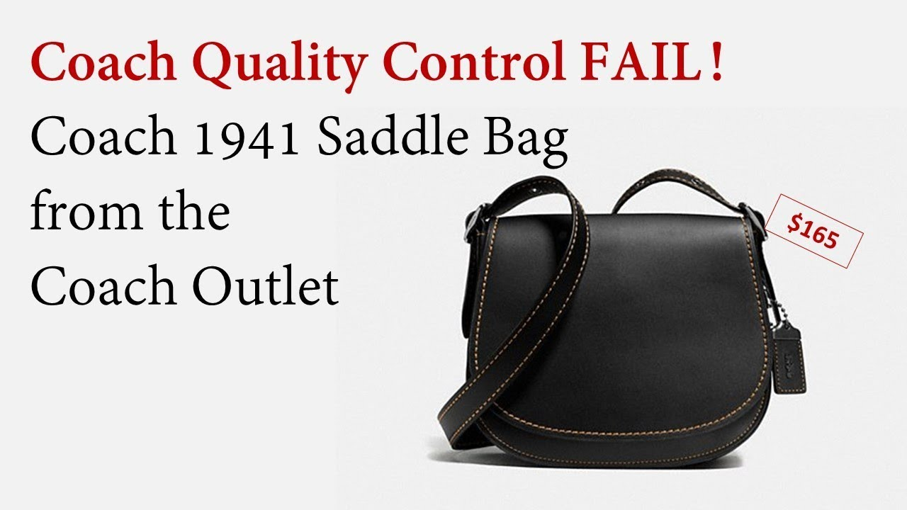 Coach 1941 Saddle Bag Found At The Outlet Youtube