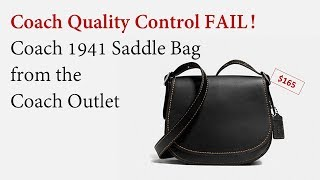 Coach 1941 Saddle Bag found at the Outlet