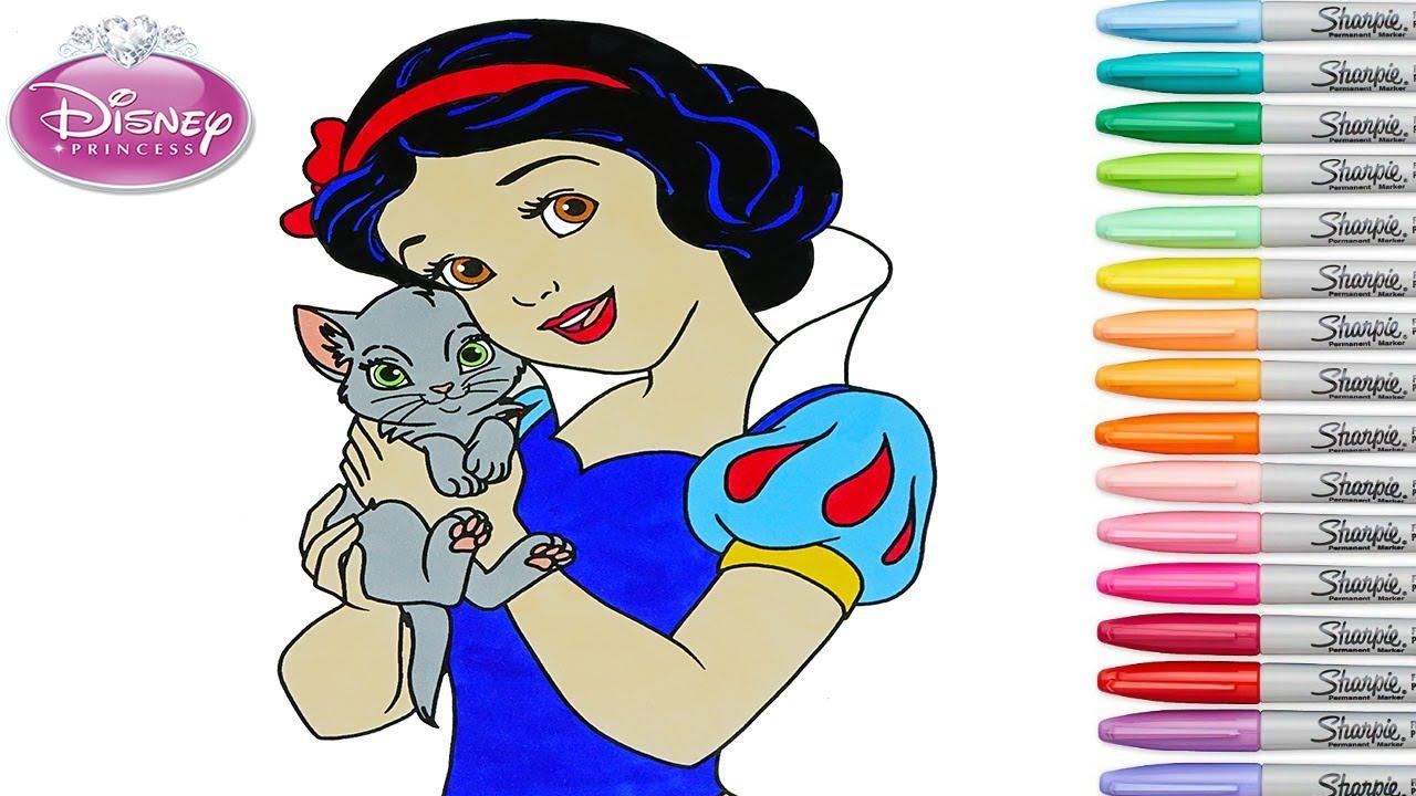 Disney Princess Coloring Book Pages Snow White Rainbow Splash Unlimited