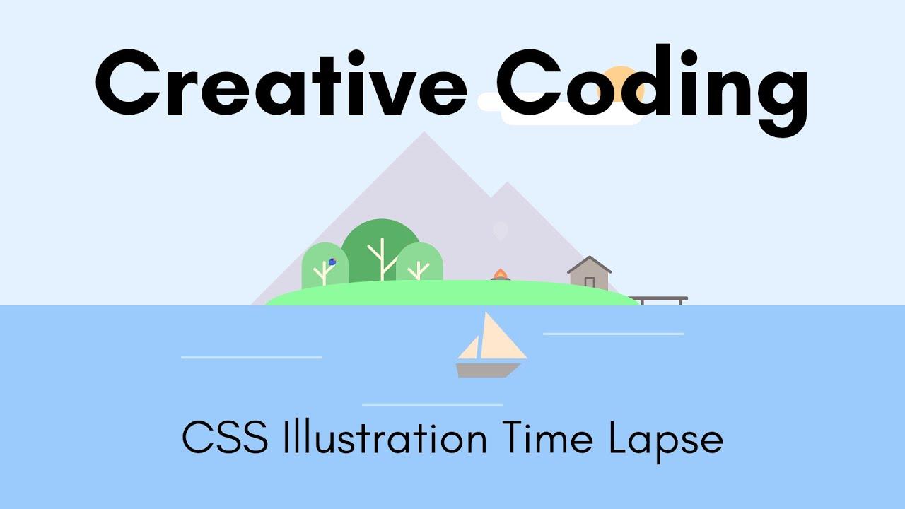 Creative Coding | Little Island | CSS Illustration Time Lapse