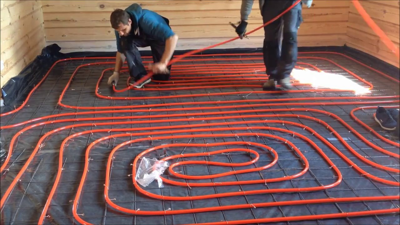 Underfloor Heating Installation Youtube