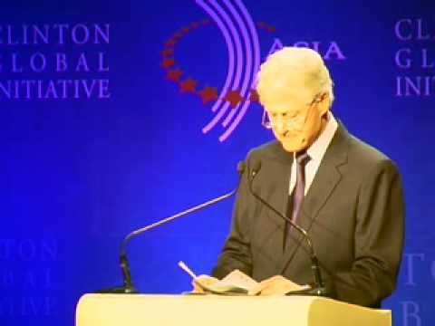 Bill Clinton speaks at CGI Asia 2008