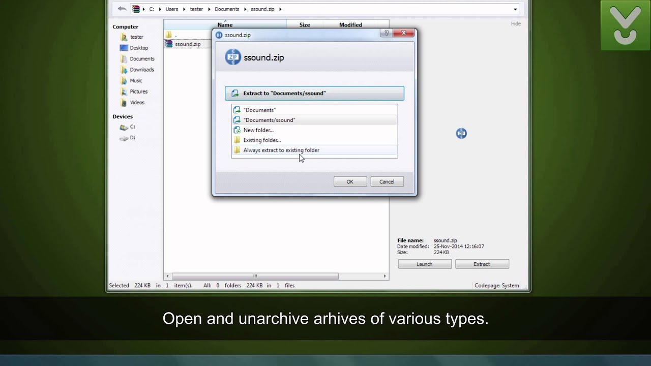 B1 Free Archiver - View, open, and extract archives - Download Video  Previews