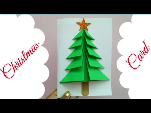 Diy Christmas Card Making Xmas Card For Kids Christmas Tree Card
