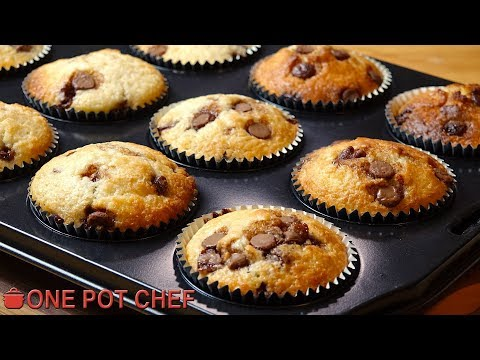 Chocolate Chip Muffins | One Pot Chef