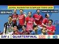 Jadwal Badminton Olimpiade Tokyo 2021 |  QuarterFinal | Kamis,29 Juli 2021 | Live Indosiar & Tvri