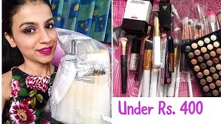 ALI EXPRESS HAUL INDIA - MAKEUP & MAKEUP BRUSHES | Ali Express Haul Everything Under Rs. 400