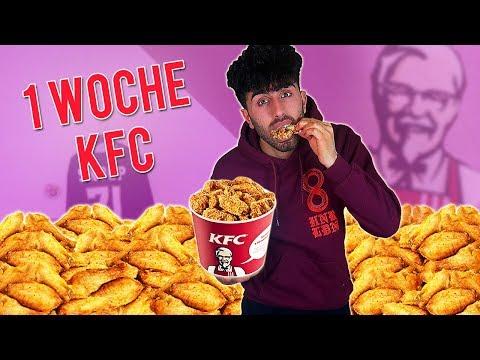 Eine Woche nur KFC ESSEN !!!