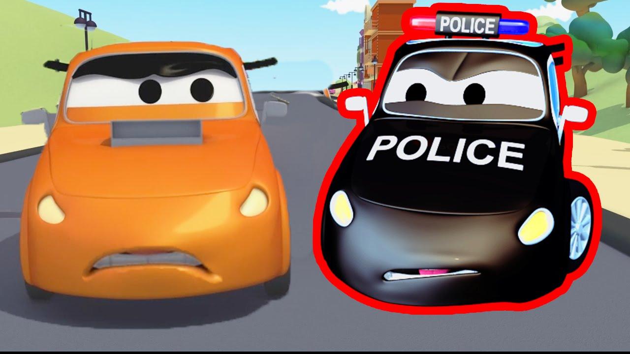 La Carrera Con La Super Patrulla En Auto City Dibujos Animados