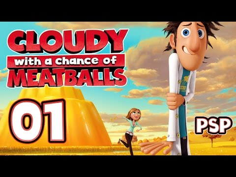 Cloudy With A Chance Of Meatballs Walkthrough Part 1 (PSP) World 1 ~ Level 1 & 2