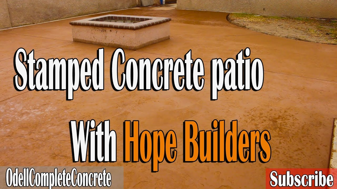 How To Pour A Backyard Stamped Concrete Patio (With Hope Builders)