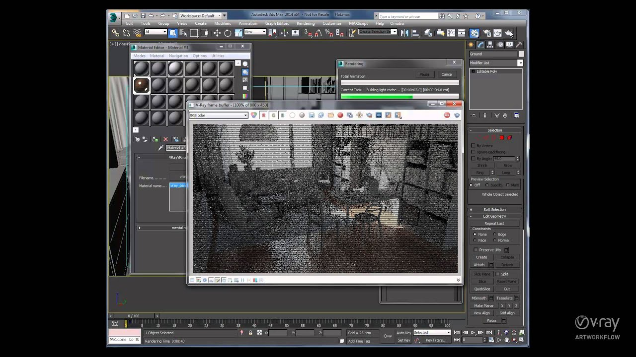 V Ray 3 0 For 3ds Max Vrmats Youtube