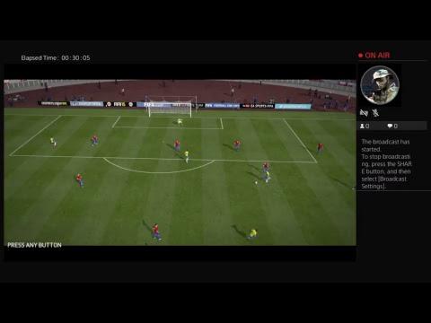 CaptKill83's Live PS4 Broadcast  fifa  samba boys vs chile leg 2