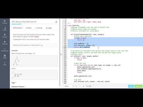 376 Binary Tree Path Sum I - YouTube