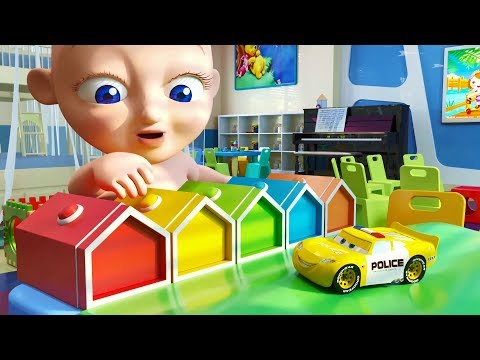 Smile Police Cars with Fun Baby James - Nursery Songs for Kids and Children