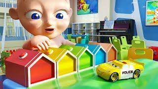 Police Cars with Fun Baby - Colors Learning with Nursery Songs for Kids and Children