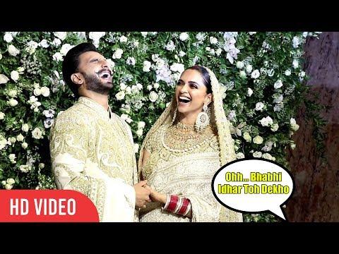 Deepika Padukone and Ranveer Singh LOL 😂😍😂Moment at Mumbai Reception