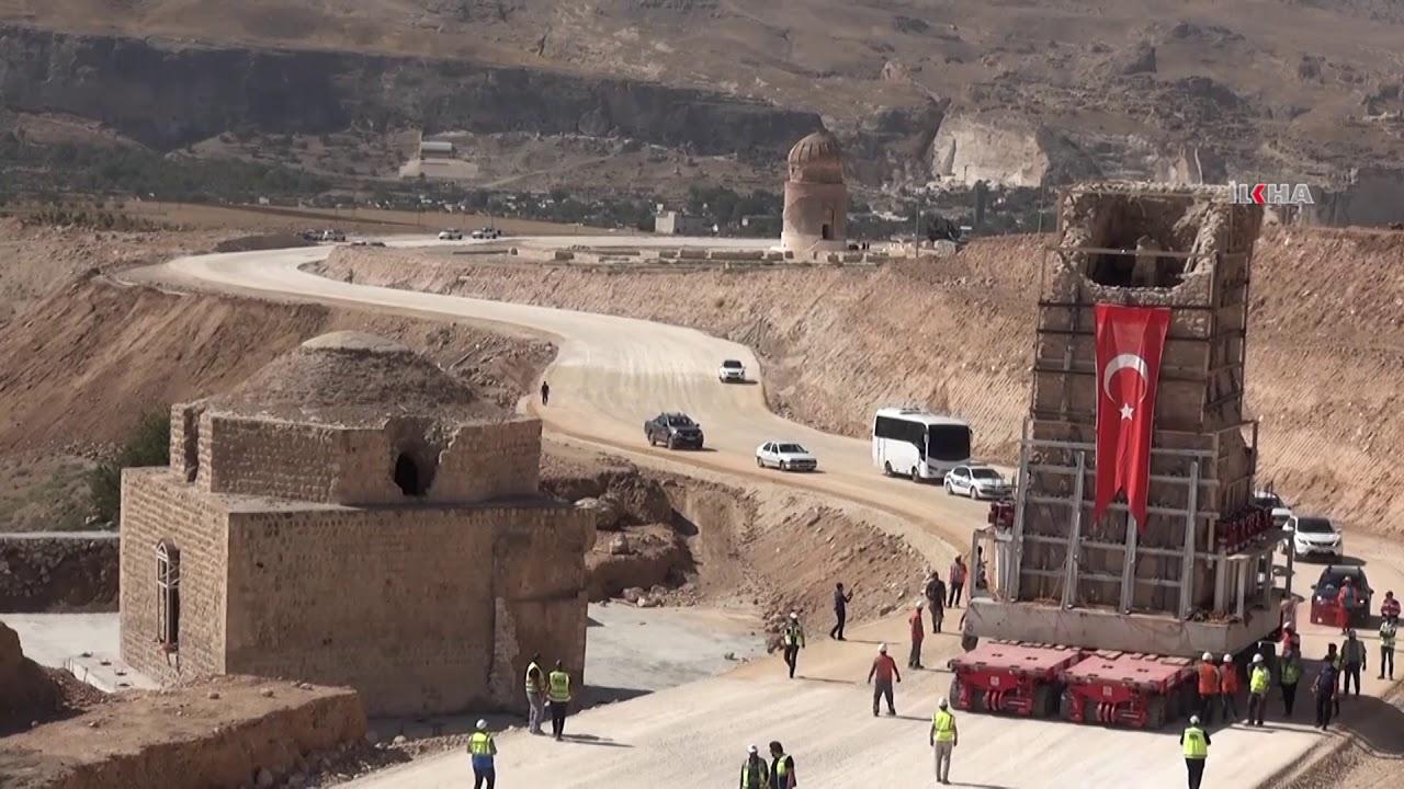 İmam Abdullah Zaviyesinin minaresi de taşındı