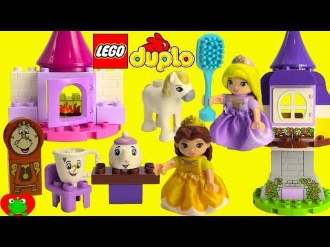 Disney Princess Belle's Tea Party Lego Duplo 10877 and Rapun