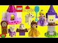 Disney Princess Belle's Tea Party Lego Duplo 10877 and Rapunzel's Tower 10878 Build