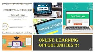 ONLINE LEARNING: WEBINARS, WORKSHOPS, QUIZ (#LOCKDOWN SPECIAL)