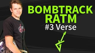 Guitar Lesson: Bombtrack 3/4 verse - Rage Against The Machine - How to play / tutorial
