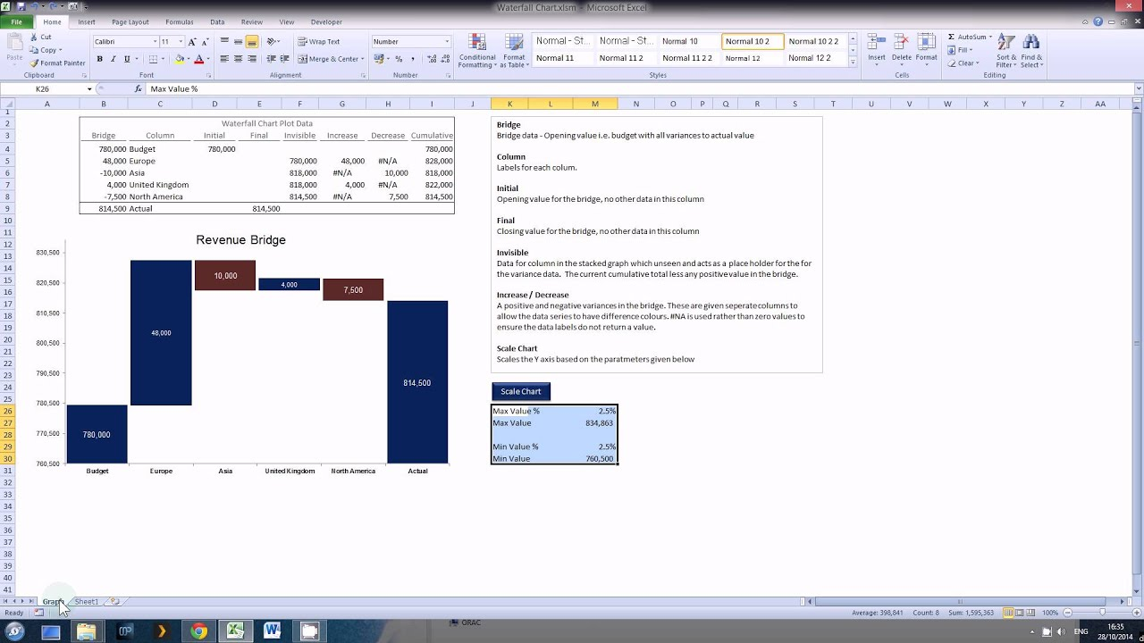 Excel waterfall chart tutorial 2 youtube excel waterfall chart tutorial 2 ccuart Gallery