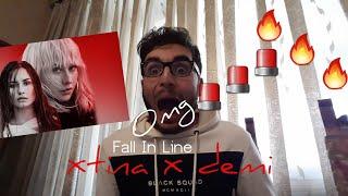 CHRISTINA AGUILERA - FALL IN LINE FT. DEMI LOVATO | REACTION!!!