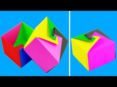 [NO GLUE Paper Crafts] How To Make a Paper Box - Origami Box - DIY Paper Box