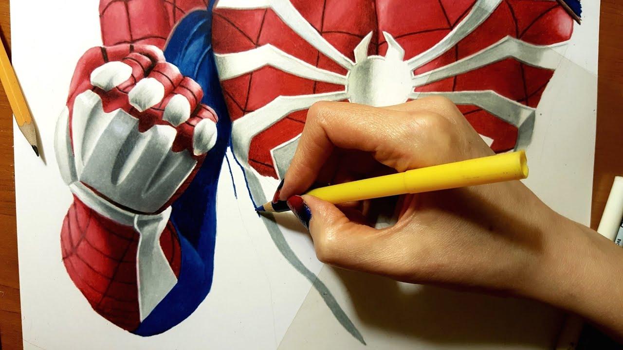 Speed Drawing Ps4 Spider Man Jasmina Susak Drawing