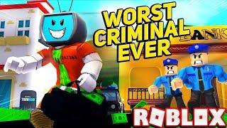 Eu sou o pior criminoso de sempre em Roblox Mad City