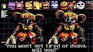 EXTRAS, VOICES ALL JUMPSCARES Ultimate Custom Night