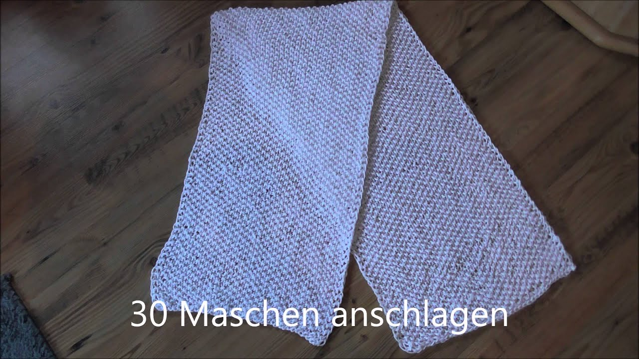 Dünner Schal für den Herbst einfache Anleitung - YouTube