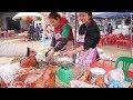 EM GÁI VUI TÍNH BÁN THỊT LỢN QUAY LỄ HỘI CHÙA TÂN THANH LẠNG SƠN 2019 I Thai Lạng Sơn