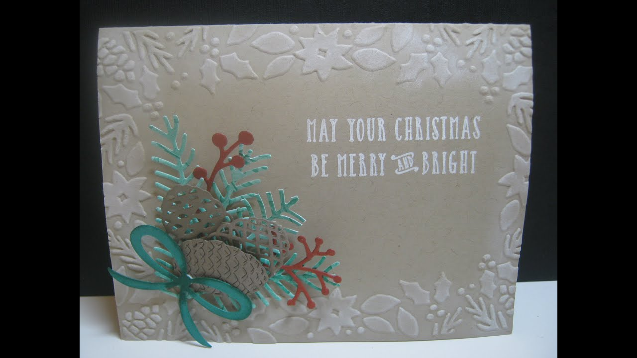 Pretty Pines Die Cut Christmas Card - YouTube