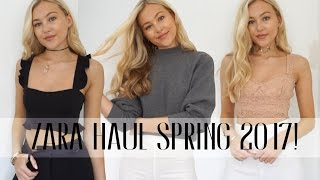 ZARA HAUL! SPRING 2017 + TRY ON | Hollie Hobin