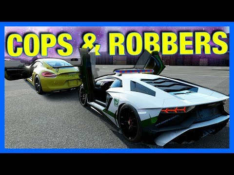 Forza 7 Online : COPS & ROBBERS!! (Open Track)