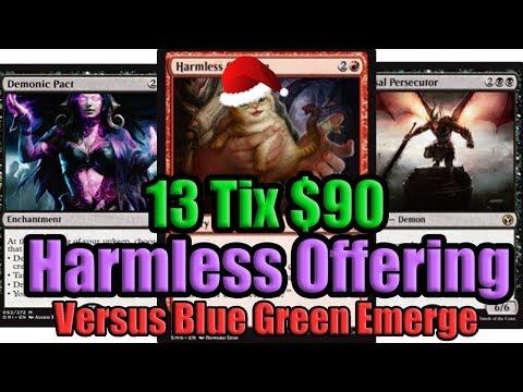 MTG Budget Modern Harmless Offering vs Blue Green Emerge
