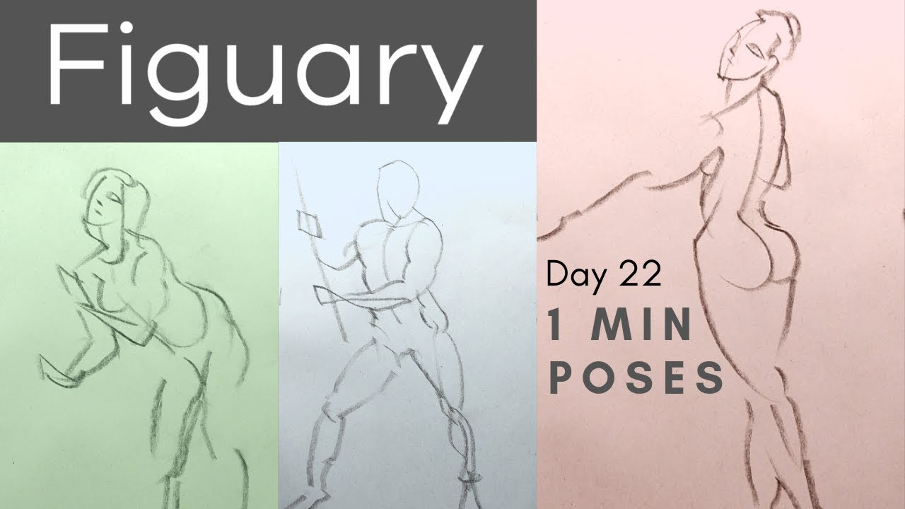 Figuary Day 22: How to do 1 MINUTE Poses