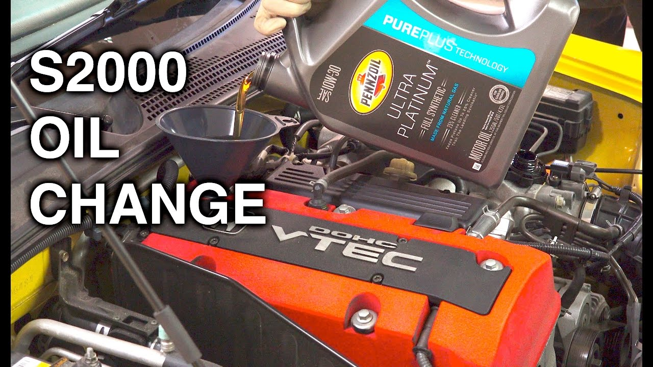 How To Change Your Engine Oil Honda S2000 Youtube