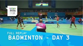 Badminton - Day 3 - Mixed Doubles | Full Replay | Nanjing 2014 Youth Olympic Games